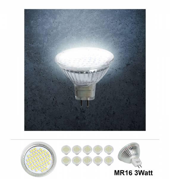 20x Grafner® LED Leuchtmittel MR16 3 Watt 6000K Kaltweiss
