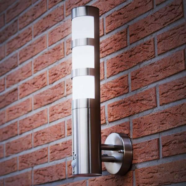 Grafner® Edelstahl Wandlampe mit Bewegungsmelder 137WBPIR Wandleuchte außen