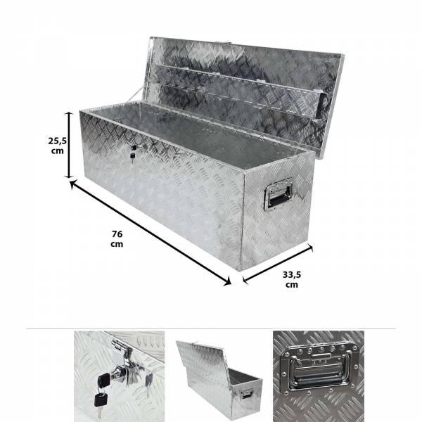 Grafner® Werkzeugkasten Alu Transportbox 76 x 33,5 cm x 25,5 cm