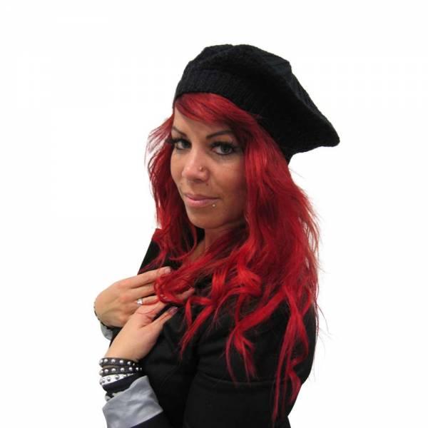 Mütze Reggae Haube einfarbig 804272 Farbe: Schwarz