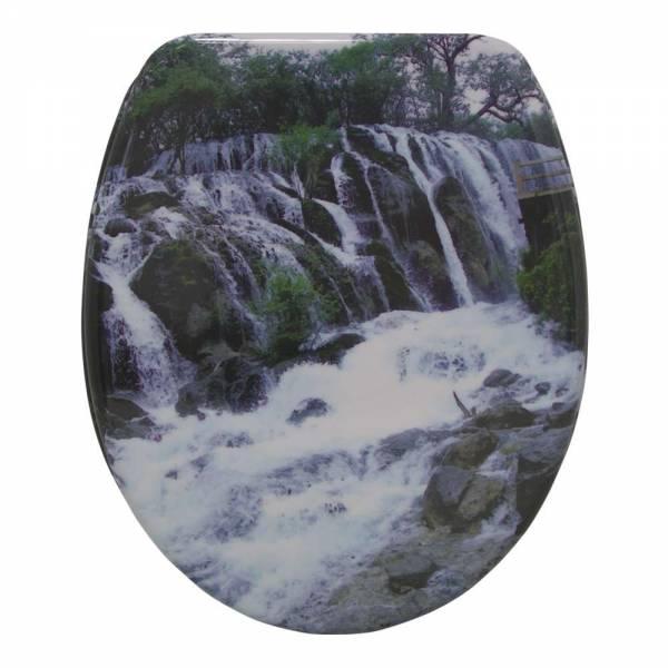 Schäfer WC-Sitz aus Duroplast Motiv Wasserfall