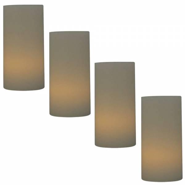 4er Set LED Echtwachskerzen - Höhe: 10cm
