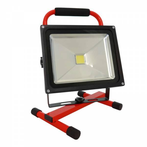 Grafner® LED Baustrahler 30 Watt 8800 mAh Akku in Rot Flutlicht