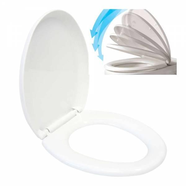 WC Sitz mit Absenkautomatik aus Duroplast weiss Toilettendeckel
