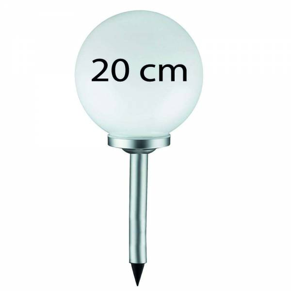 Grafner® LED Solar Kugel Ø20cm Solarleuchte Kugelleuchte mit Erdspieß