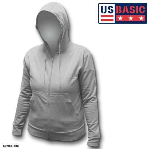 US Basic Damenhoodie Pullover grau Größe: S