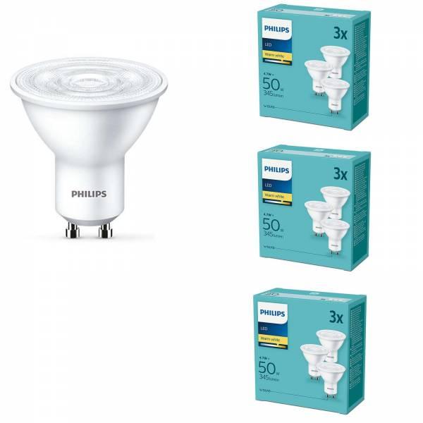Philips 9er Set LED Leuchtmittel Signify GU10 4,7W
