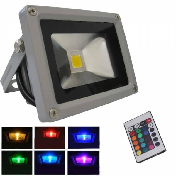 Grafner® LED Flutlichtstrahler mit Fernbedienung RGB 20 Watt Außenwandstrahler