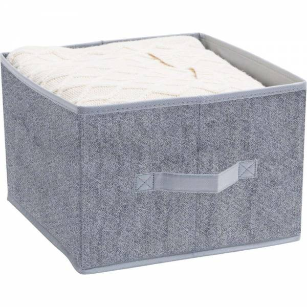 Ordnungsbox grau meliertes Vlies 15L 28 x 27 x 20cm