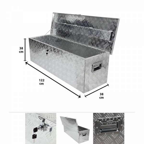 Grafner® Werkzeugkasten Alu Transportbox 122 cm x 38 cm x 38 cm