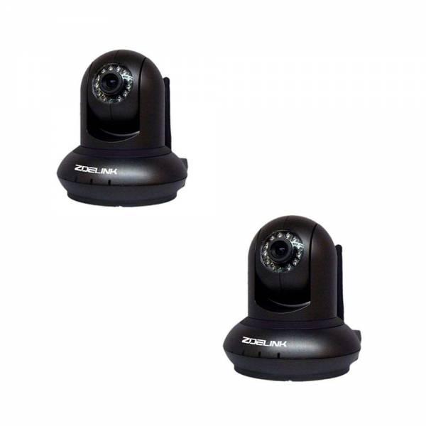 2er Set Zoelink HD Wireless IP Kamera Indoor ZL601-1MP-B Schwarz