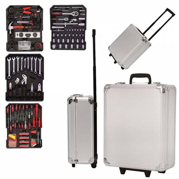 Grafner® Werkzeugkoffer 599 teilig bestückt Werkzeugtrolley