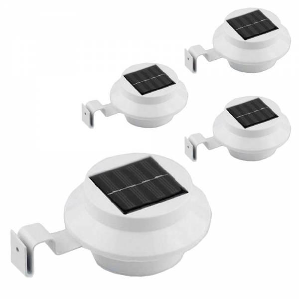 Solar LED Dachrinnenleuchte 4er Set