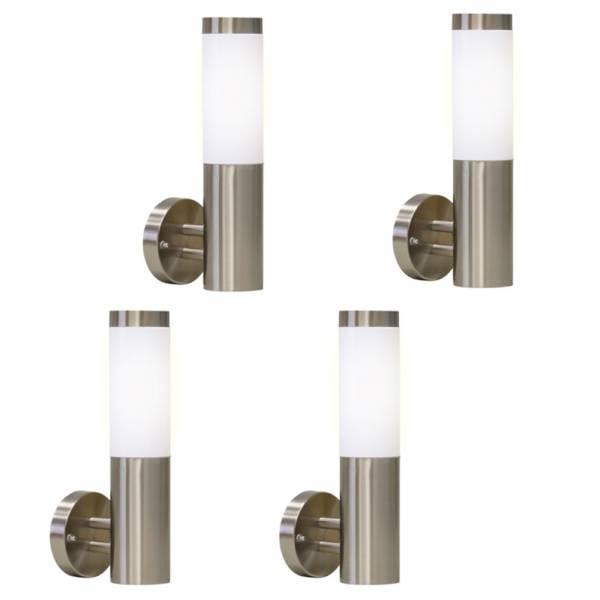 4er Set Grafner Edelstahl-Wandlampen 10WB WL10188