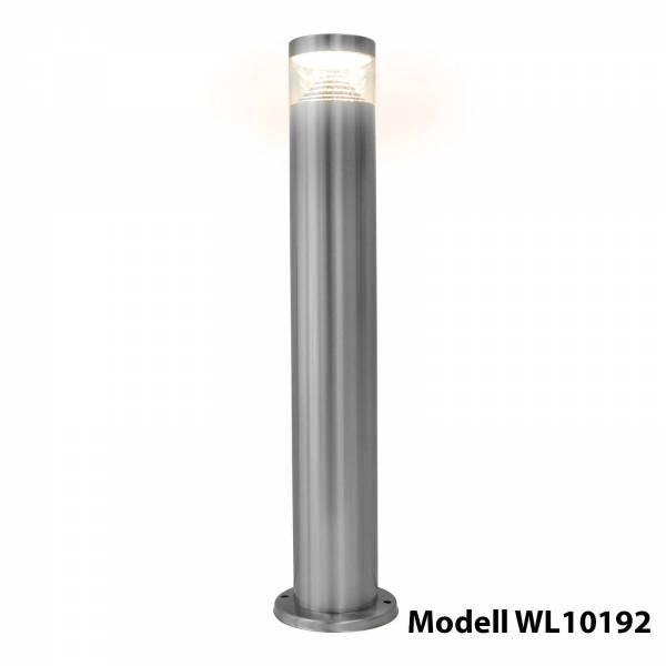 Grafner Edelstahl Wegleuchte mit integrierten LED Leuchtmittel Gartenlampe
