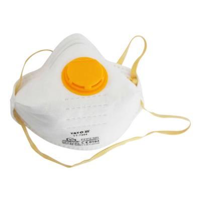 YATO Profi Atemschutzmaske Schutzmaske mit Ventil