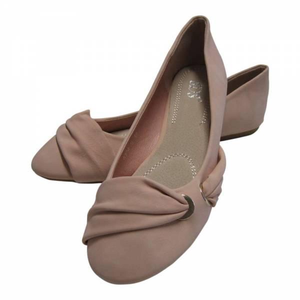 Damen Ballerina Verschluss seitlich Größe: 37 / Farbe: Pink