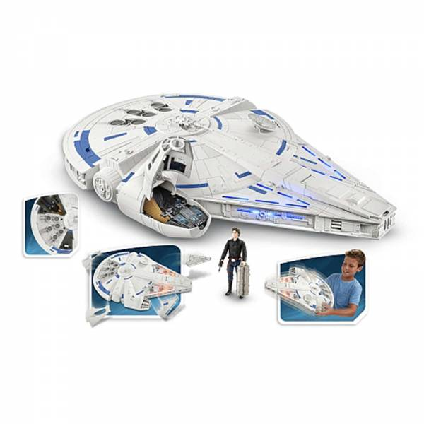 Hasbro Disney Star Wars Millenium Falke Forcelink 2.0 mit Spielfigur Han Solo