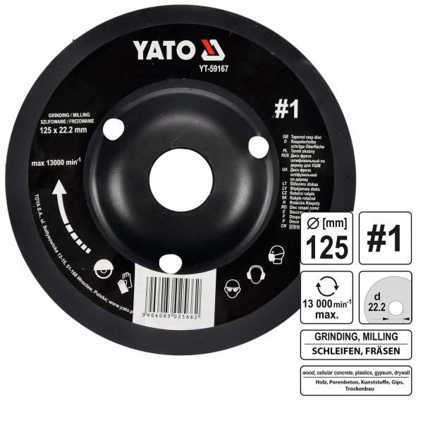 YATO Profi Raspelscheibe für Winkelschleifer 125mm Nr1