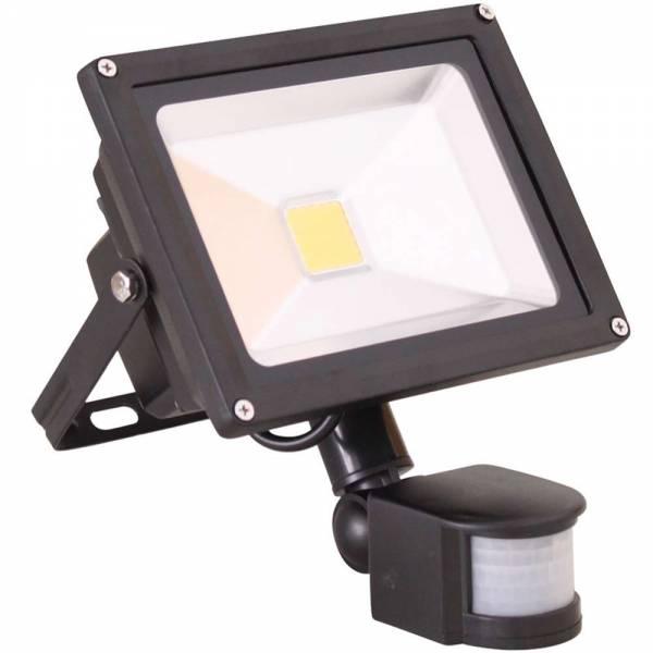 Grafner® LED Flutlichtstrahler mit Bewegungsmelder Kaltweiß 50 Watt Außenwandstrahler