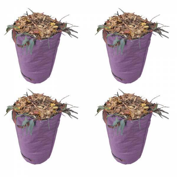 Gartenabfallsack 270 Liter Gartentasche rund aus Polyethylen Gewebe 150 GSM